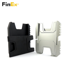 Grampo de carteira de alumínio para porta-cartões de usinagem CNC