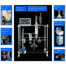 Top grade short path distillation system for crude oil fractional distillation