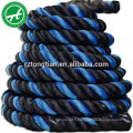 Corde de combat en polyester pour la musculation avec manchon cover50mm 38mm 32mm