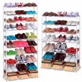 Nuevo 7 a 10 niveles zapato zapatas almacenamiento organizador soporte estante pares zapatos estante