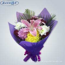 bouquets não tecidos da flor da tela que empacotam o papel de envolvimento da flor