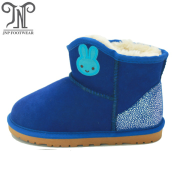 kids winter indoor genuine leather snow boots