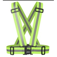 Adjustable motor warning reflective belt