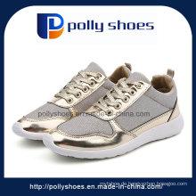 Neueste Frauen-Art- und Weisesegeltuch-Schuh-Damen-Schuh