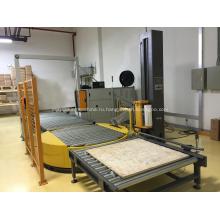 Полностью автоматическая машина для упаковки паллет конвейерного типа