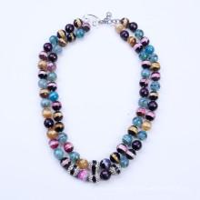 Красочный камень лето ожерелье
