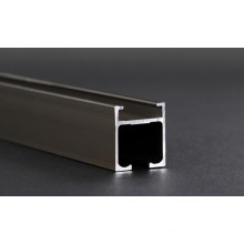 Profilé en aluminium pour rail de rideau de champagne d'électrophorèse