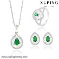 63833 Xuping Fashional Elegant De Luxe Couleur Rhodium Zircon Parure