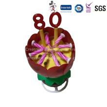 Vela giratória da flor da música com número árabe