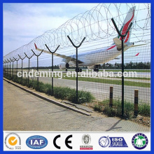 PVC Coated Welded Wire Mesh Airport Perimeter Fence