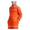Personalizado logo y estilo 65% poliéster 35% tela de sarga de algodón reflexivo material de seguridad mono