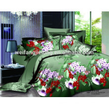 100% Polyester printing fabric with different new designs in bedsheet and quiltcover