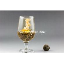China Hecho a mano flor de jazmín floreciente té