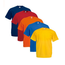 100% Baumwolle Colourful T-Shirt Einfarbig Schmal geschnittene Regular Fit Shirts