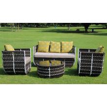 Ensemble de meubles de loisirs de jardin Modern Style européen Hôtel Patio Rattan Canapé extérieur en osier (F868)