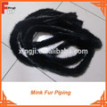 Light Brown / Dark Brown / Black Mink Fur Piping