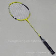 2015New llega la venta caliente Wholrsale moda hierro amarillo y rojo XL7013 especializada raqueta de bádminton