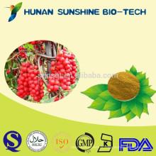 Commerce d'assurance naturel fructus schisandrae chinensis fruit PE poudre a une fonction anti insomnie