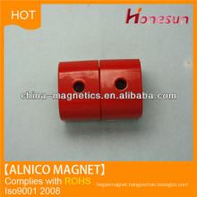 cast alnico 5 red pot cylinder magnet for sale