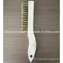 Pure Brass Wire Wood Handle Appliance Cleaning Brush (YY-543)