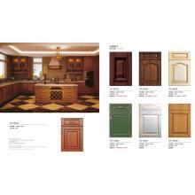Mobília da cozinha do PVC do abanador com muitas cores (preço de fábrica diretamente)