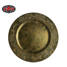 Antique Gold Plastic Charger Plate