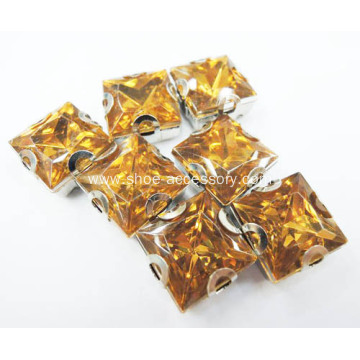 Sew on Square Rhinestones 12x12mm