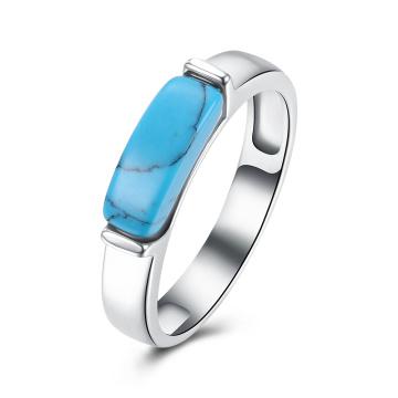 Heißer Verkauf Art- und Weisesteinsel-Material-Ringe für Mädchen