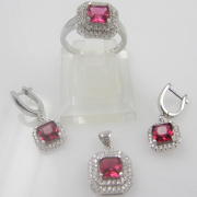 Costume Jewelry, 925 Silver Fashion Jewelry Set (RSFY5514B)