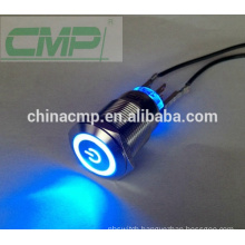 CMP metal illuminated IP67 LED lighted switch power button