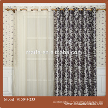 Tissu 100% polyester jacquard rideau antidouleur