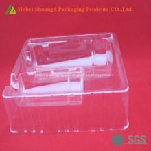 Empaquetado de la ampolla de la bandeja cosmética plástica clara