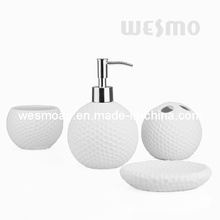 Intaglio Porcelain Bathroom Set (WBC0816A)