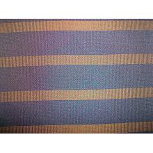 Tissu et tricot en polyester et rayures teintés en fil
