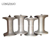 Cable de alimentación material de acero que tira del rodillo