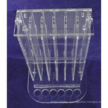 Косметика Розничный Магазин Countertop Стойки Небольшой Прозрачный Акриловый 6 Тестеров 72 Шт Дисплей Губы Бальзам