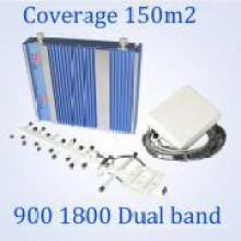 Teléfono móvil de doble banda 900 / 1800MHz GSM de señal de refuerzo para GSM WCDMA Inicio utilizado repetidor
