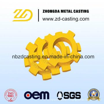 Специальное литье в песчаные формы для высокомарганцевого стального коннектора в Китае