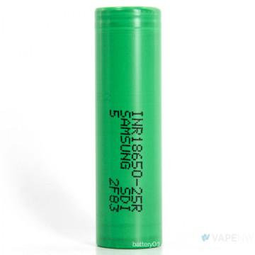 Corriente de descarga 25A para batería recargable de iones de litio Samsung-25r