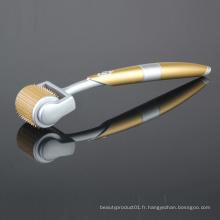 Système de soin de peau de Derma de rouleau d'aiguille de titane d'or Zgts