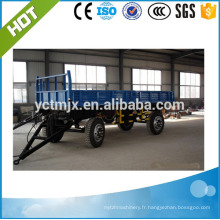 Camion de vente chaude de 2017 et remorque hydraulique agricole de basculement de tracteur