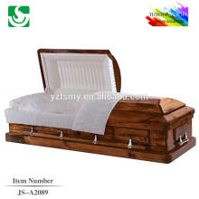 Caixão madeira sólida de venda quente estilo americano