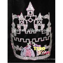 Meilleur vente de concours de beauté Vente chaude Château Reine Couronne Tiara