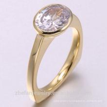 2018 новая мода 14k желтое золото 925 серебряное кольцо ювелирных изделий