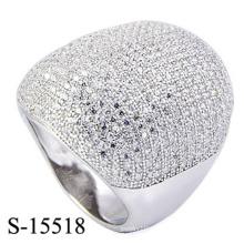 El último anillo micro de la joyería de la moda del diseño con Zirconia