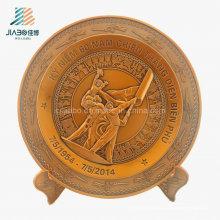 Placa del recuerdo militar del bronce 3D del bastidor de la fuente de la mejor venta para Veitnam