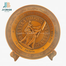 Best Sell Supply Casting Bronze 3D Military Souvenir Plate for Veitnam