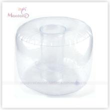 Almofada de ar de pescoço inflável de PVC para viagens 40X30cm