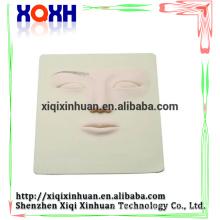 Peau de pratique permanente de maquillage tatouage 3D de haute qualité, peau de pratique en caoutchouc visage 3D