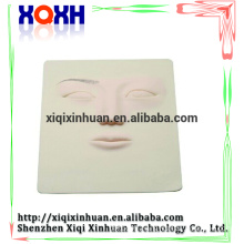 High quality 3D Permanent Tattoo Makeup Practice Skin,3D face rubber practice skin